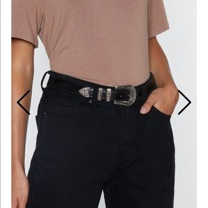 NastyGal black western belt
